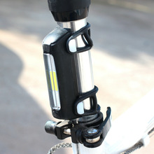 Bicycle Bike Rear Tail LED Light Mini Taillight 3 Colors USB Rechargeable Light Fits for 12-32mm Handlebar drop shipping