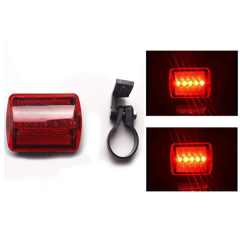 Newly Bike Bicycle Tail Rear Lights Safety Warning Bicycle Light Taillight Lamp 5 LED Cycling Light Bike Accessories