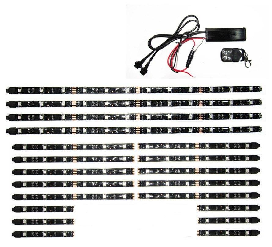LDDCZENGHUITEC 5050smd из светодиодов автомобиль мотоцикл светятся огни гибкий Неон полосы комплект каркас вертолет с пульта дистанционного управления Мульти Цвет