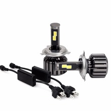 1 SET 2016 Led H4 Car Headlights 120w 12000lm Car Led Head Light Bulbs H13 9004 9007 Automobiles Headlamp 6000K white Fog Lamps