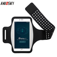 HAISSKY Sport Running Armband Case For iPhone XS Max XR XS 7 8 6s Plus Xiaomi MI 9 F1 Ultra-thin Arm Bag For Samsung S9 S10 Plus