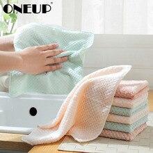 ONEUP кухонное полотенце супер абсорбент чистая ткань микрофибра ткань для посуды тряпка высокая эффективность посуда домашнее полотенце для уборки
