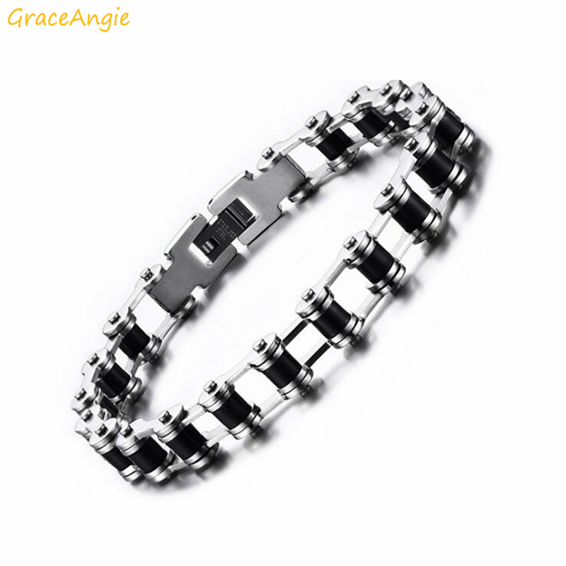 GraceAngie Bicycle Chain Bracelet Stainless Steel Men's Personality Jewelry Supply Black Dating Ornament Dating Wedding Craft