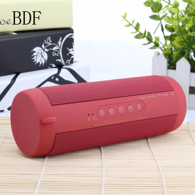 BDF Original T2 Wireless Bluetooth Speaker Waterproof Portable Outdoor Mini Speaker Column Speakers Support TF card FM Boombox