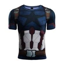 Avengers 3 Captain America 3D Printed T shirts Men Compression Shirt 2018 Comics Cosplay Short Sleeve