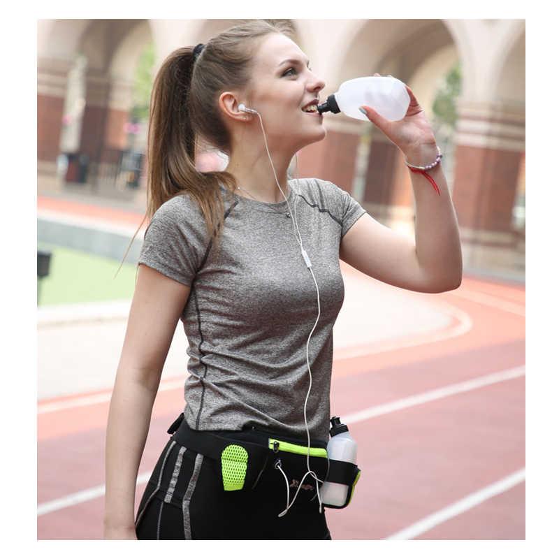 を女性男性ウエストバッグ女性防水携帯電話ベルト女性の黒緑ナイロン二水ボトルファニーパック 183