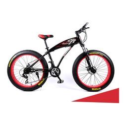 Rower śnieżny 21 prędkości 24 prędkości podwójny hamulec tarczowy duża opona rower górski