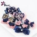 10 pçs/lote SHUYANI elegante fita Bowknot broche de strass broche de cristal broches pinos