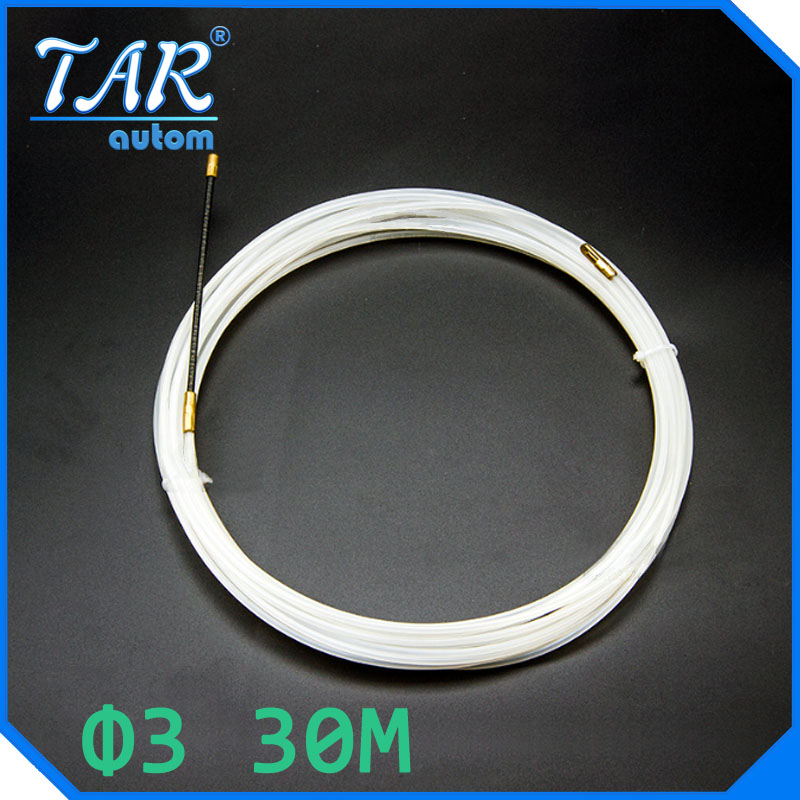 30M Nylon cable puller the extractor leader for Dia 3mm cable electrician threading device network cable wire lead device