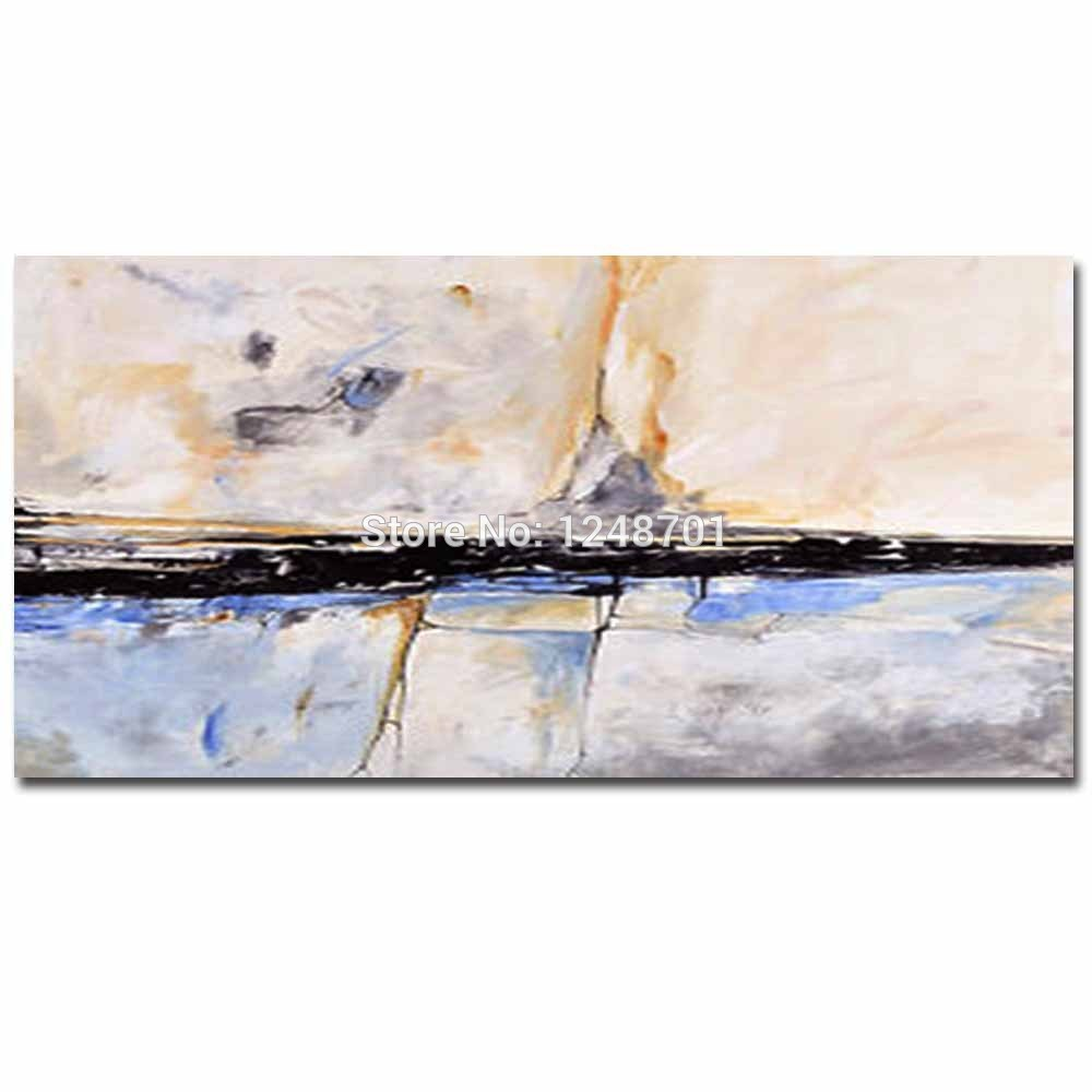 Handgeschilderde Modern Design Impasto Abstract Canvas Olieverf - Huisdecoratie