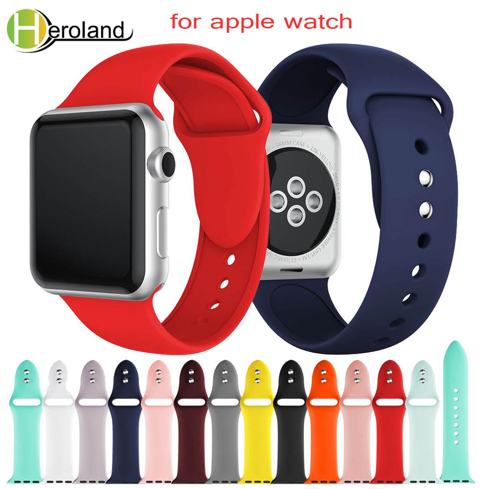 Sports Silicone Watch strap band for apple watch band Series 1/2/3 42mm 38mm Wrist Strap for iwatch 4 40mm 44mm bands Bracelet yolovie sport strap for apple watch band 38mm 40mm 42mm 44mm silicone bracelet belt replacement wrist bands for iwatch 4 3 2 1