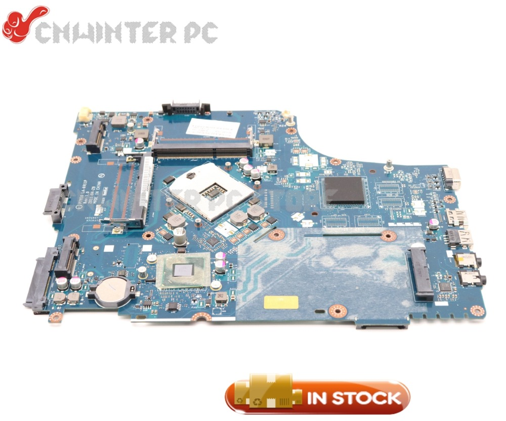 NOKOTION P7YE0 LA-6911P MBRN802001 MB.RN802.001 For Acer aspire 7750 7750Z Laptop motherboard HM65 UMA DDR3 laptop motherboard for aspire one 522 ao522 p0ve6 la 7072p mbsfh02001 amd c60 ddr3