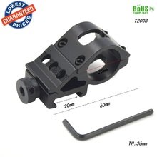 1pc T2008 20mm rail Aluminum Alloy tactics Barrel Laser scope mount Picatinny Weaver Mount / Flashlight Mount with Hex Wrench
