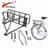 26 700C Adjustable Cargo Racks Mountain Bike Vintage Bicycle Carrier Black eBike Racks Powerful Electric Bike Luggage Carrier