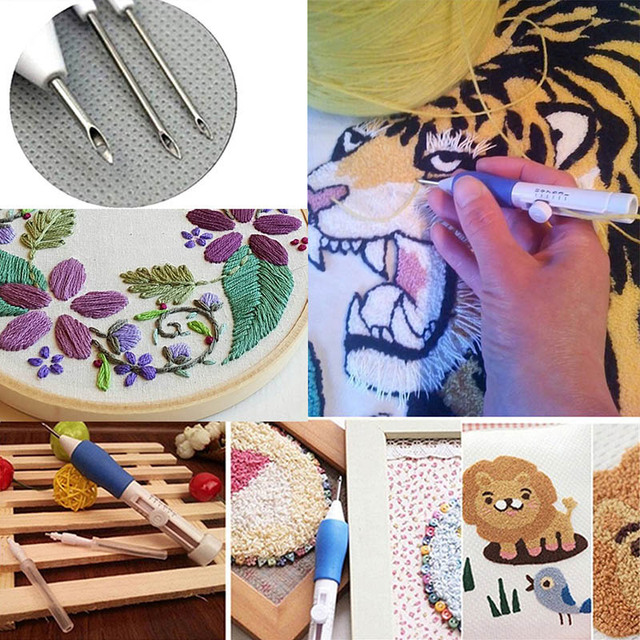 Aliexpress Buy Magic Embroidery Pen Punch Needle Set