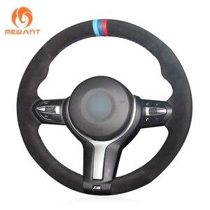 Image 4 - Housse de volant noire en cuir et daim véritable, pour BMW M Sport F30 F31 F34 F10 F11 F07 F45 F46 F22 F23 M235i M240i