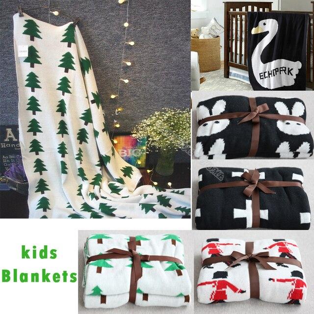110 см * 130 см новый милый кролик лебедь трикотажные детские дети одеяло дети бросает Qult 6 конструкций играть мат Chirstmas подарок