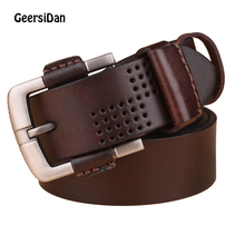 GEERSIDAN 2018 men belt cow genuine leather luxury strap male belts for new fashion classic vintage pin buckle drop shipping