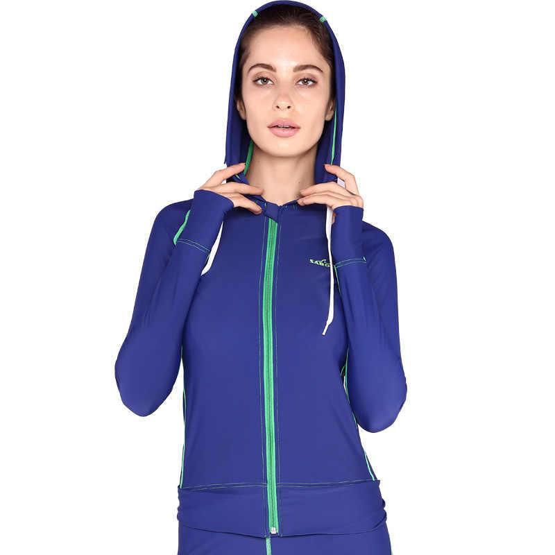 Upf50 Surf Baju Renang Rush Penjaga Berenang Celana untuk Wanita Panjang Lycra Surf Pasangan Baju Renang UV Perlindungan Berenang Kemeja
