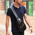 High Quality Men Genuine Leather Cowhide Messenger Shoulder Bag Cross Body Casual fashion Travel Sling Chest Pack
