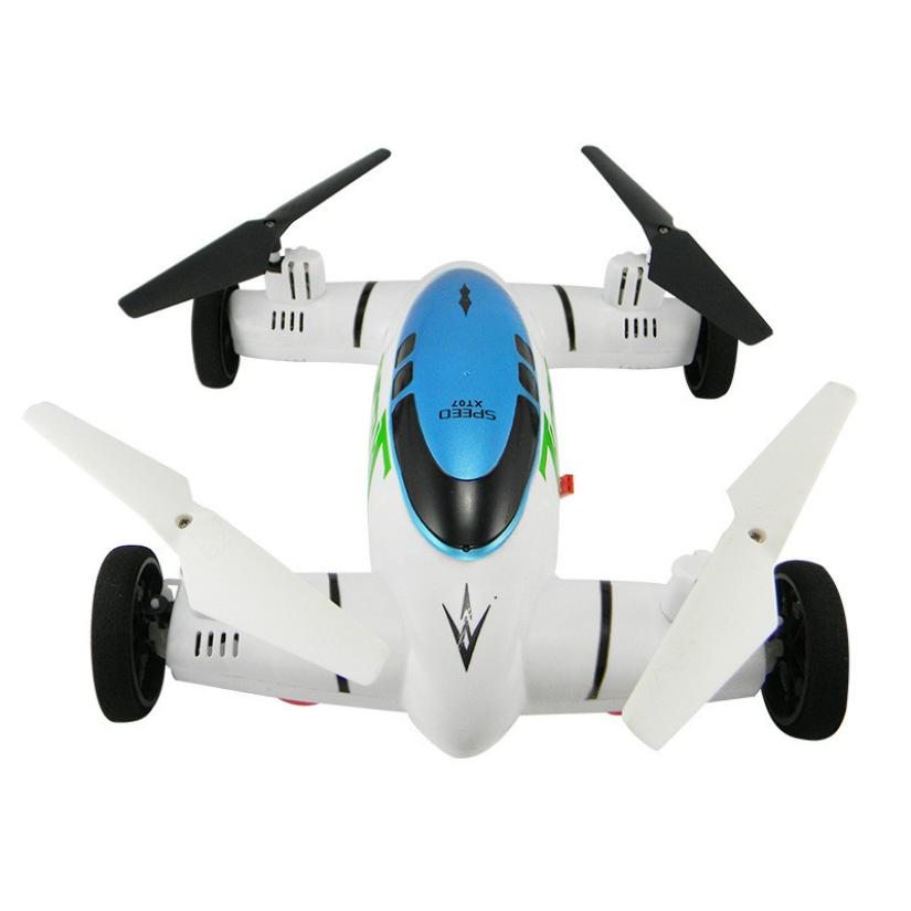 Rc Quadcopter Mini Drone Car HW7007 2 IN 1 2.4G 6-Axis Plane Land Remote Control Car Quadcopter Drone HelicopterT112