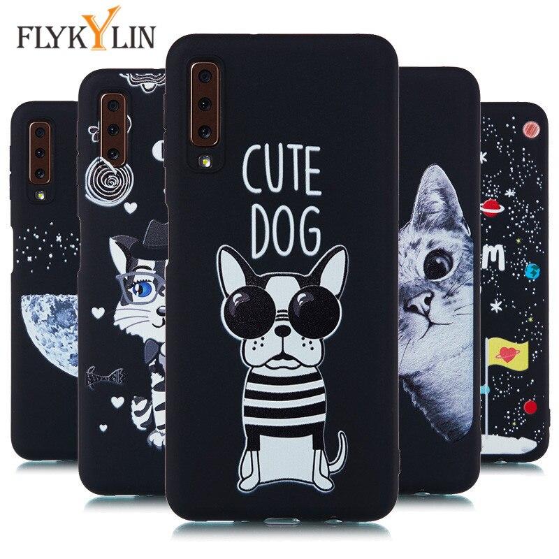 Buy FLYKYLIN Phone Case on sFor Coque Samsung Galaxy A7 2018 case Soft Silicone TPU Cover sFor Fundas Samsung Galaxy A9 2018 Cases for only 1.38 USD