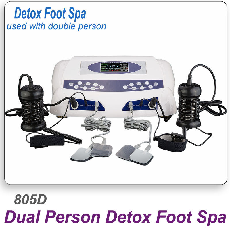Ion Foot Spa Detox Machine AH-805D With Massage Slipper Slice Wrist Belt Foot Bath SPA With CE Approved Ion Cleanse Foot Detox deep cleansing dual screen display ionic foot detox with aluminum box massage slipper ce detox machine ion foot spa ah 805d