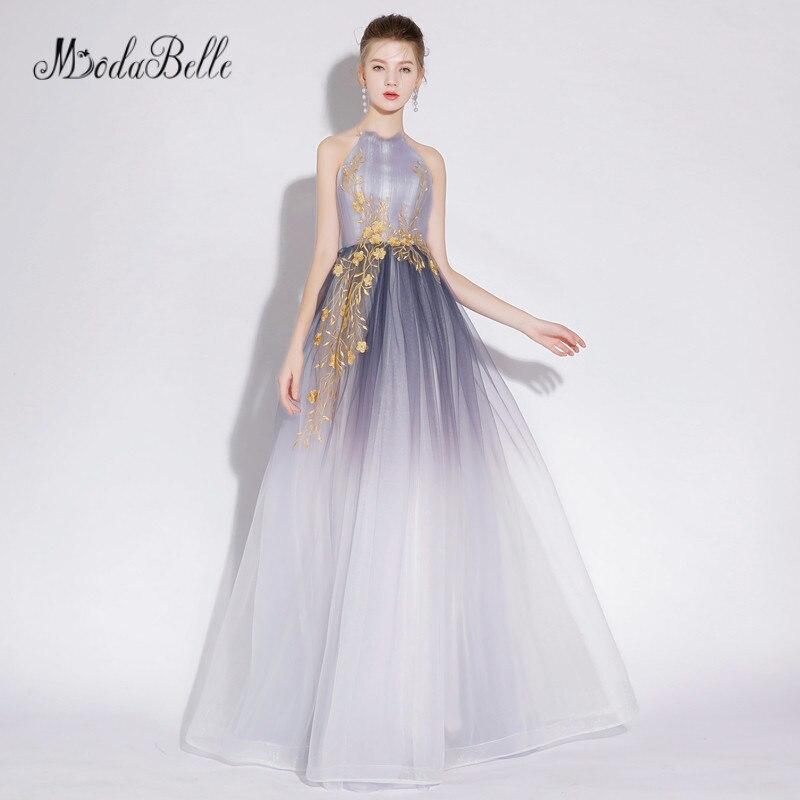Modabelle licou Appliques expédition Fress robe de soirée 2018 nouveauté robe de soirée longue élégante magnifique dentelle formelle robe