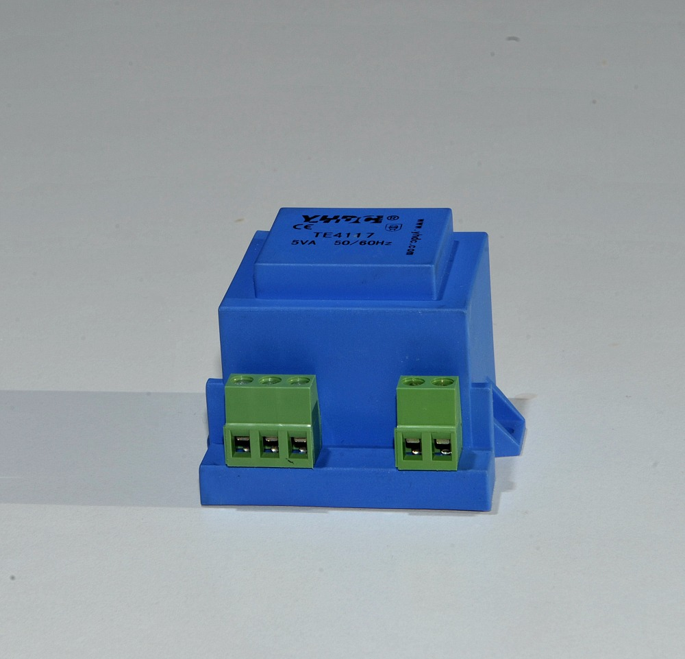YHDC TE4117 Power 5VA Input 110V Output 2*12V Vaccum Epoxy Encapsulated PCB Welding Isolation Transformer