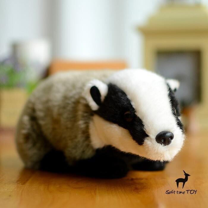 Original Big Toy Doll Badger Simulation Animal Plush Toys Kawaii Gifts Shops