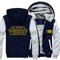 Capucha Darth Vader Jedi knight Invierno Espesar Sudaderas con Cremallera Para Hombre Sudaderas Venta Caliente tamaño Más tamaño EE. UU. UE