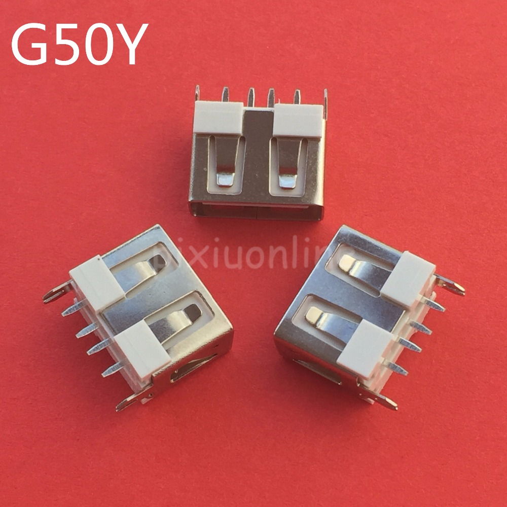 10pcs G50Y USB 2.0 4Pin A Type Female Socket Connector Short Style for Data Transmission Charging Free Shipping Russia 10pcs g55 usb 2 0 4pin a type female socket connector curly mouth bent foot for data transmission charging sell at a loss usa