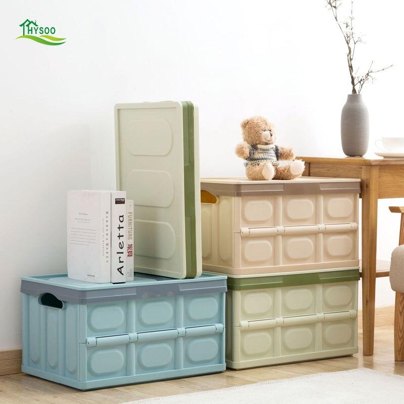 Folding plastic storage box large clothes storage box toy box covered storage boxFolding plastic storage box large clothes storage box toy box covered storage box