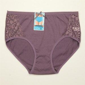 Image 3 - 4 יח\חבילה נשים תחתוני כותנה סקסי תחתונים תחרה תחתוני נשות גודל גדול XXXL 4XL 5XL