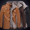 Горячая! высокое качество нового Осень зима мужская мода пальто, мужские куртки, мужская кожаная куртка бесплатная доставка