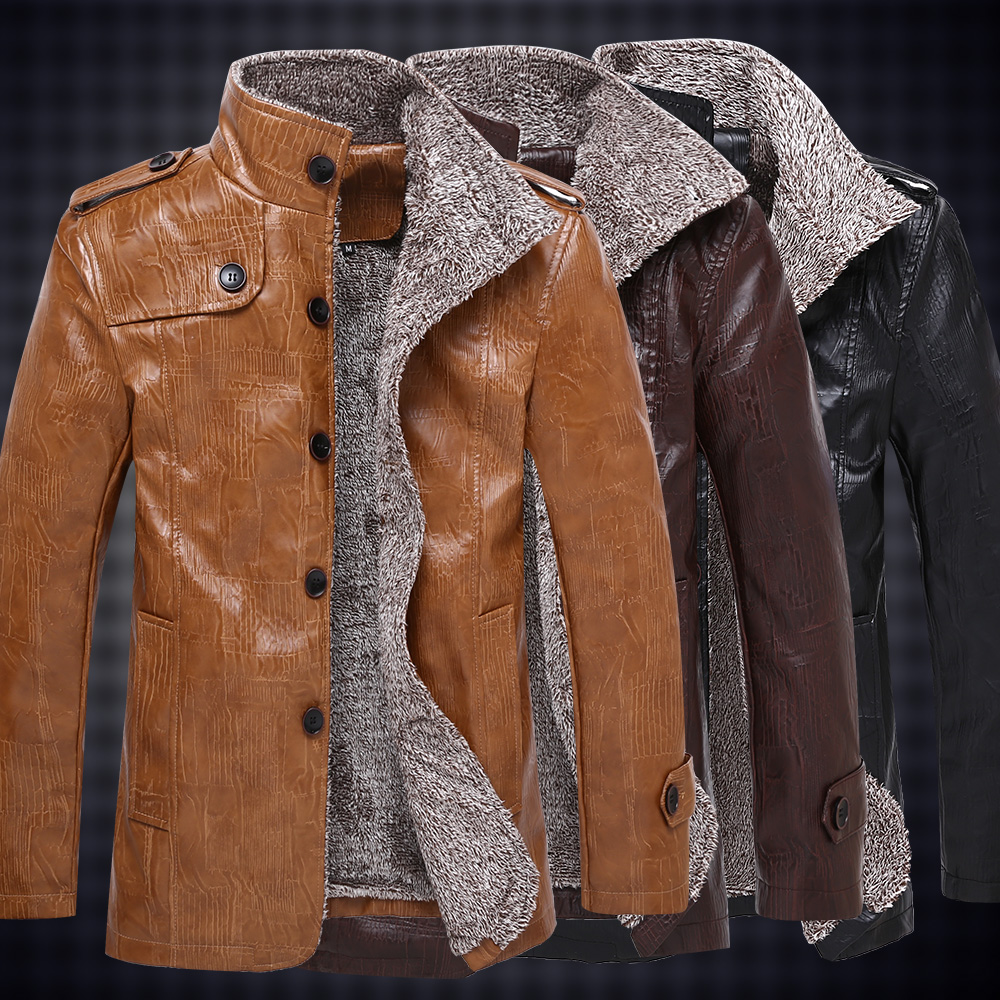 뜨거운! 고품질의 새로운 가을 겨울 패션 남성 코트, 남성 자켓, 남성용 가죽 자켓 무료 배송