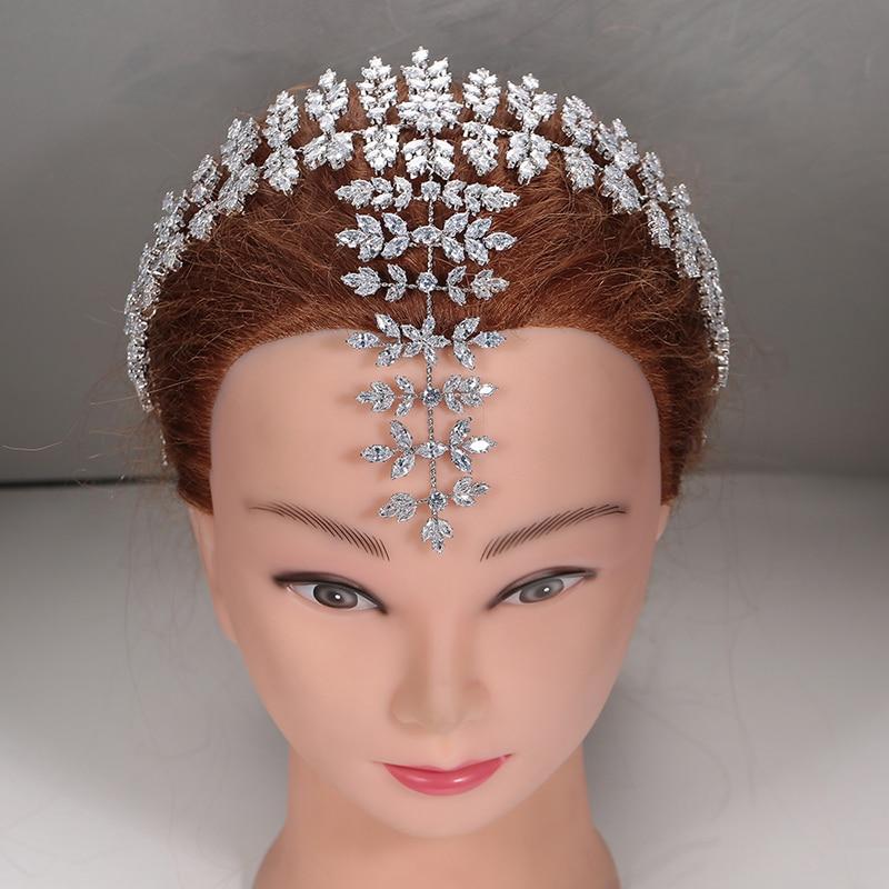 Tiaras And Crowns HADIYANA Fashion Trendy Design Hair Jewelry Wedding Elegant Women Zircon High Quality BC4868