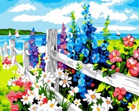 Seaside In Spring Season Paint By Numbers Wall Pictures For Living Room Home Decor Framless Picture