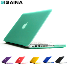 SIBAINA Crystal Matte Transparent case For Apple macbook Air Pro Retina 11 12 13 15 laptop bag for macbook Air 13 cover shell