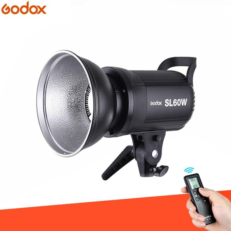 Studio Photo Godox SL-60W CRI 95 + LED lumière vidéo SL60W blanc 5600 K 60 W Bowens Mount + télécommande + réflecteur