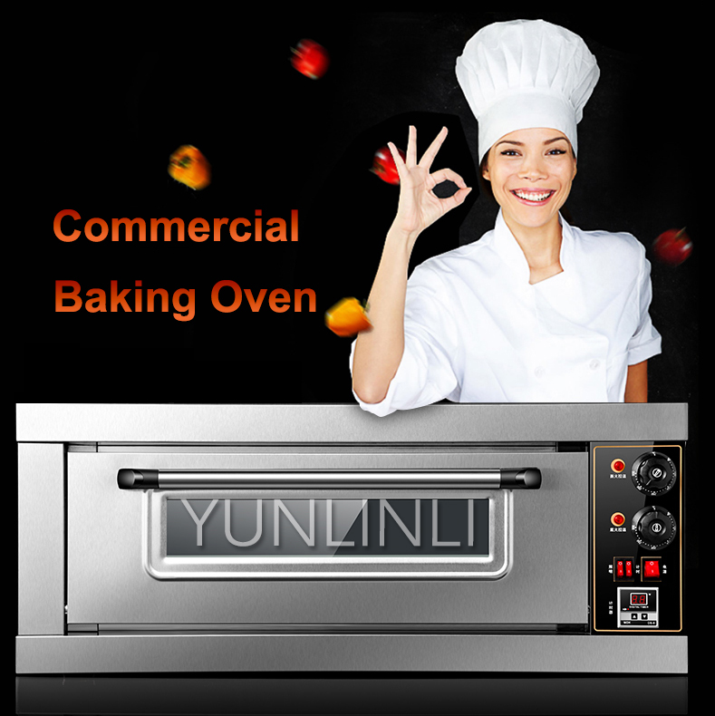 Commercial Single-layer Oven Larger Capacity Baking Oven Pizza/Cake/Cookie/Egg Tart Baking Device BND(XK01)1-1