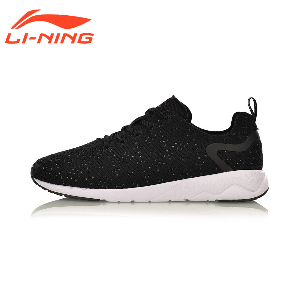 Li-Ning Men's Heather Leisure Walking Shoes Mono Yarn Wearable Anti-Slip LiNing Sports Shoes Breathable Sneakers AGCM055 li ning women gel knit classic walking shoes wearable anti slippery sneakers mono yarn lining sports shoes agln044