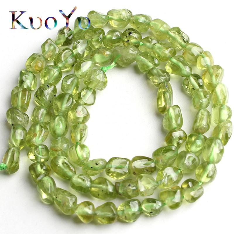 4-6mm <font><b>Natural</b></font> Irregular Green Peridot <font><b>Stone</b></font> <font><b>Beads</b></font> Smooth Loose Spacer <font><b>Beads</b></font> For Jewelry Making DIY Bracelet Necklace 15