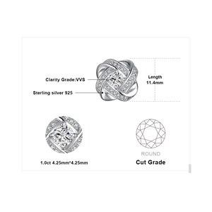 Image 5 - Jewelrypalace Del Nodo di Amore Cz Orecchini con Perno 925 Orecchini in Argento Sterling per Le Donne Delle Ragazze Coreano Orecchini Gioelleria Raffinata E Alla Moda 2020