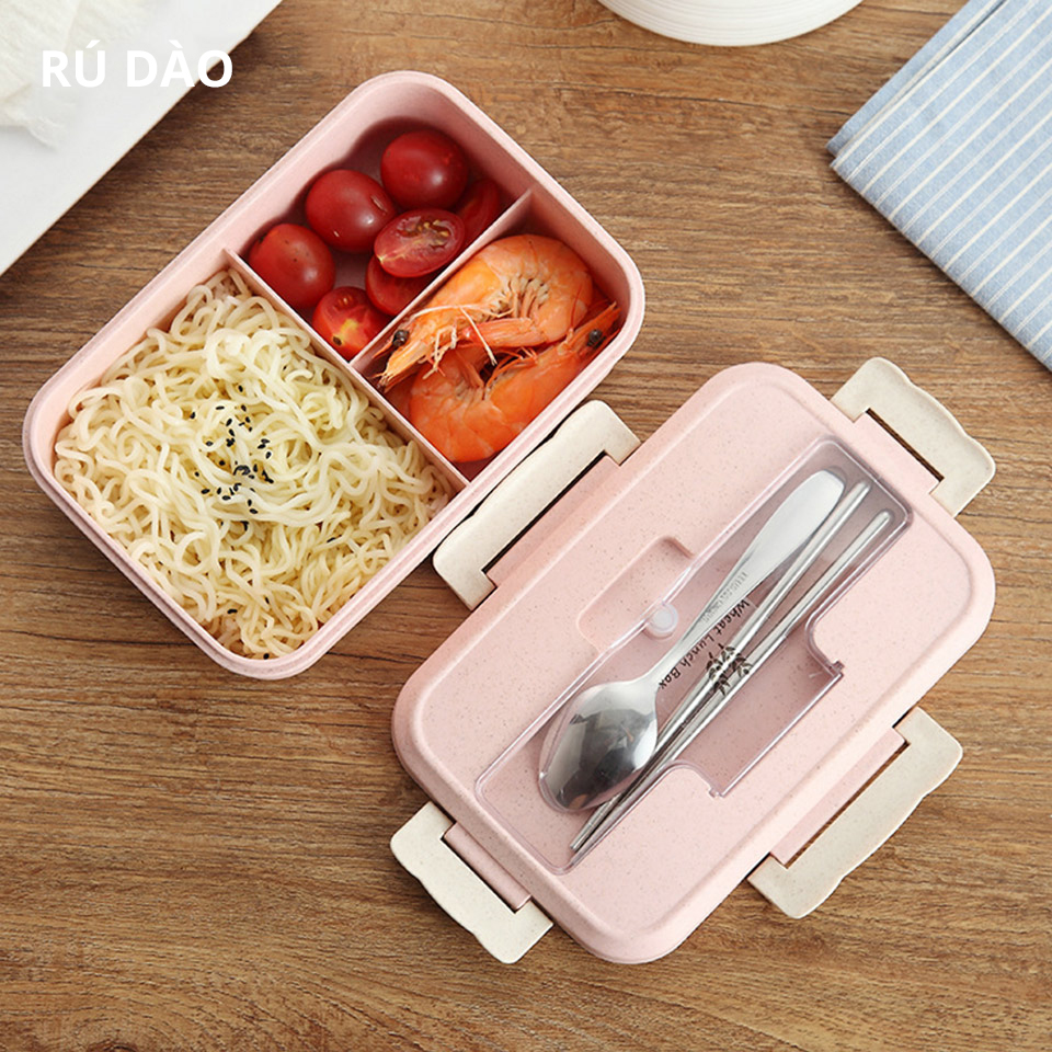 Ecofriendly Bento Box 1000ml Student Office Outdoor Travel Adult Children Japanese Lunch Box Microwave Heated Food Container
