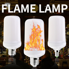 E27 LED Candle Flame Bulb E14 Fire Light E26 Flickering Effect Creative Decoration Lamp Dynamic Burning