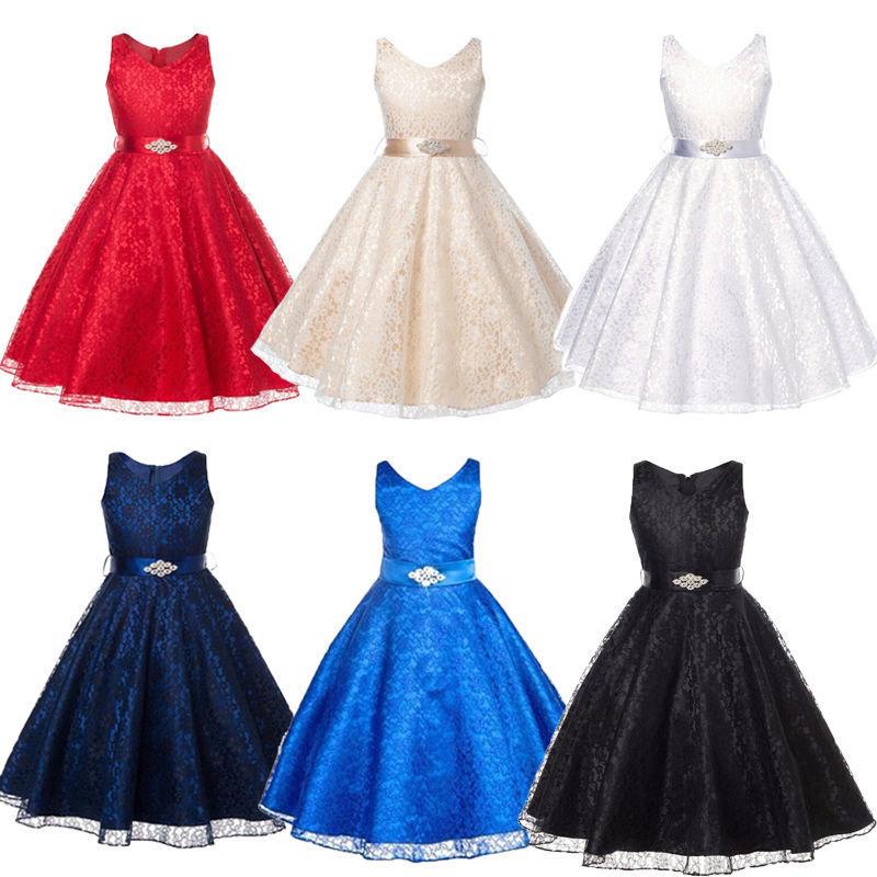 цена  Infant Toddler Child Kids Pageant Flower Girl Dress Birthday Wedding Bridesmaid Gown Formal Dresses  онлайн в 2017 году