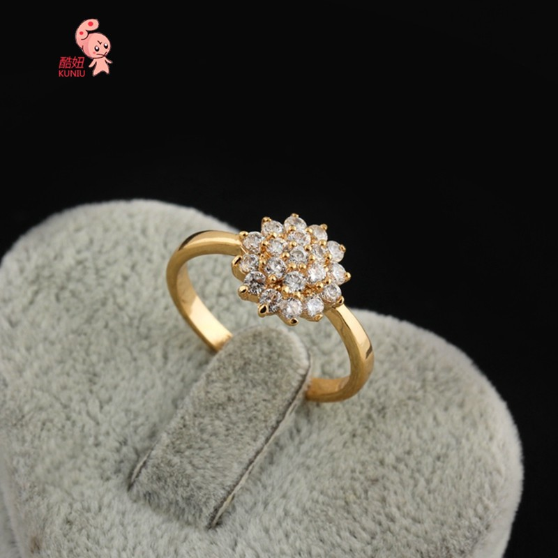 kuniu New Fashion Hot Gold Ring Full with Big Flower Design ...
