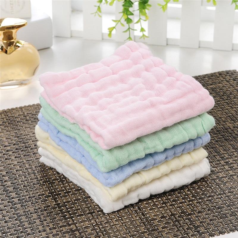 30x30cm Gauze Cotton Baby Handkerchief Square Towel Muslin Cotton Baby Face Towel Wipe Cloth Appease Towel  Newborn Supplies