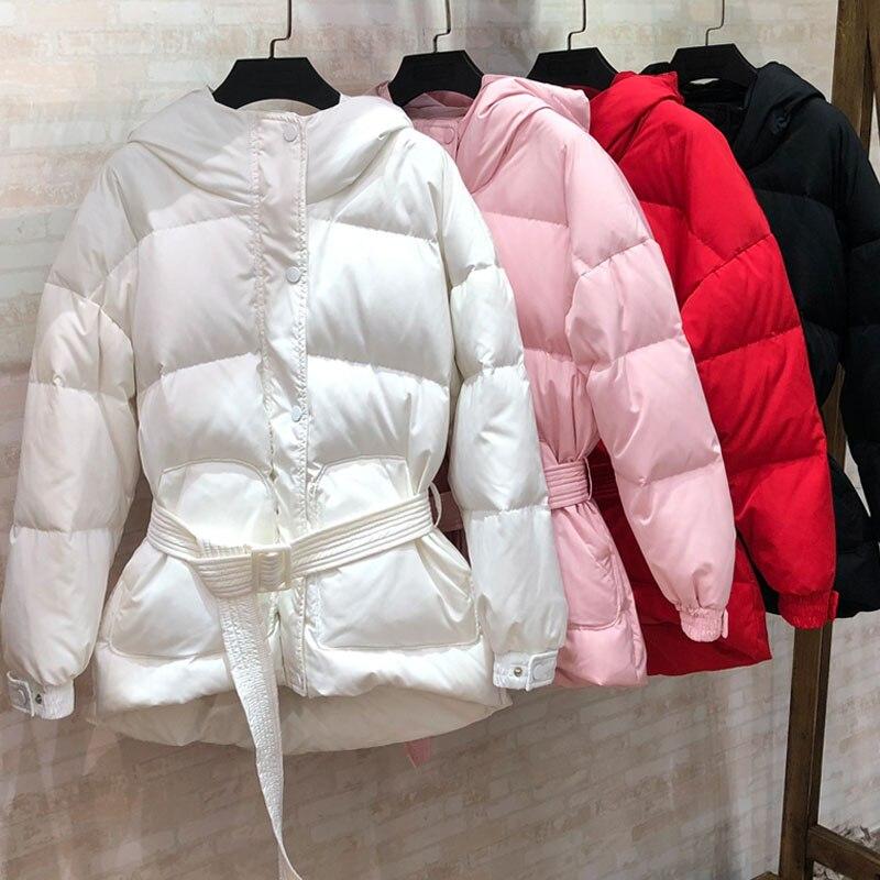 Winter Jacket Women Short Parka 2018 Brand 90% White Duck   Down     Coat   Female Feather Winter   Coat   Women Hooded Thicken Warm Parkas